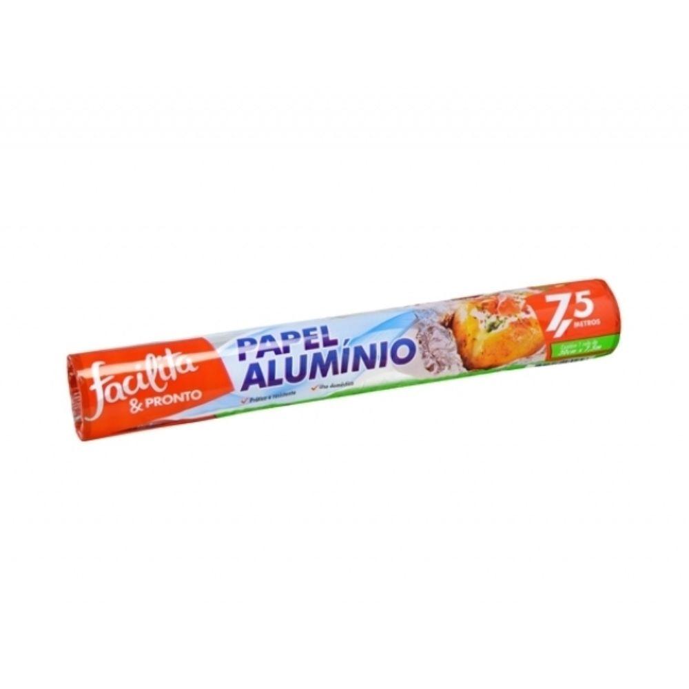 Papel Aluminio Facilita & Pronto 30 Cm X 7,5mts
