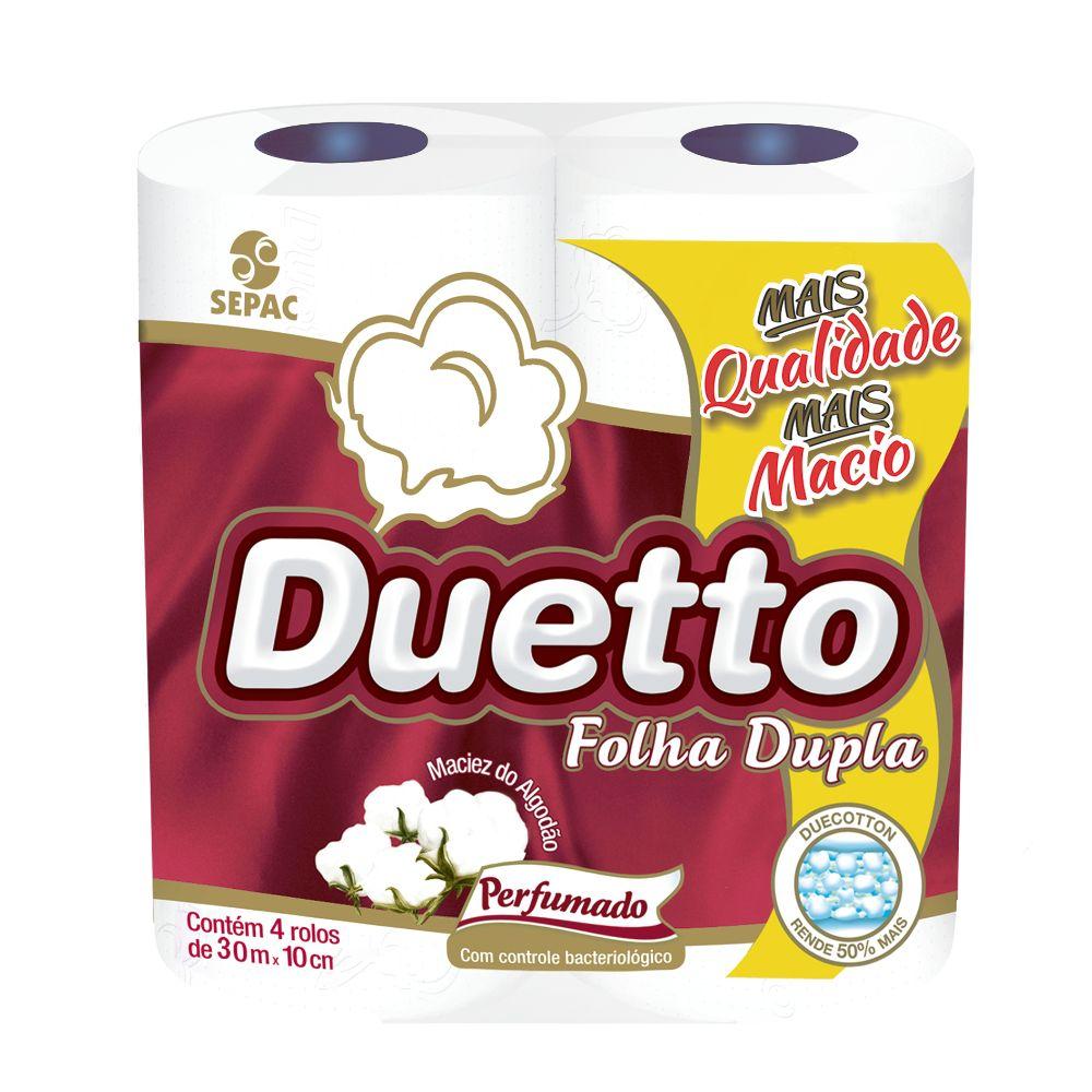 Papel Hig Duetto F Dupla 30mts C/4 Perfumado