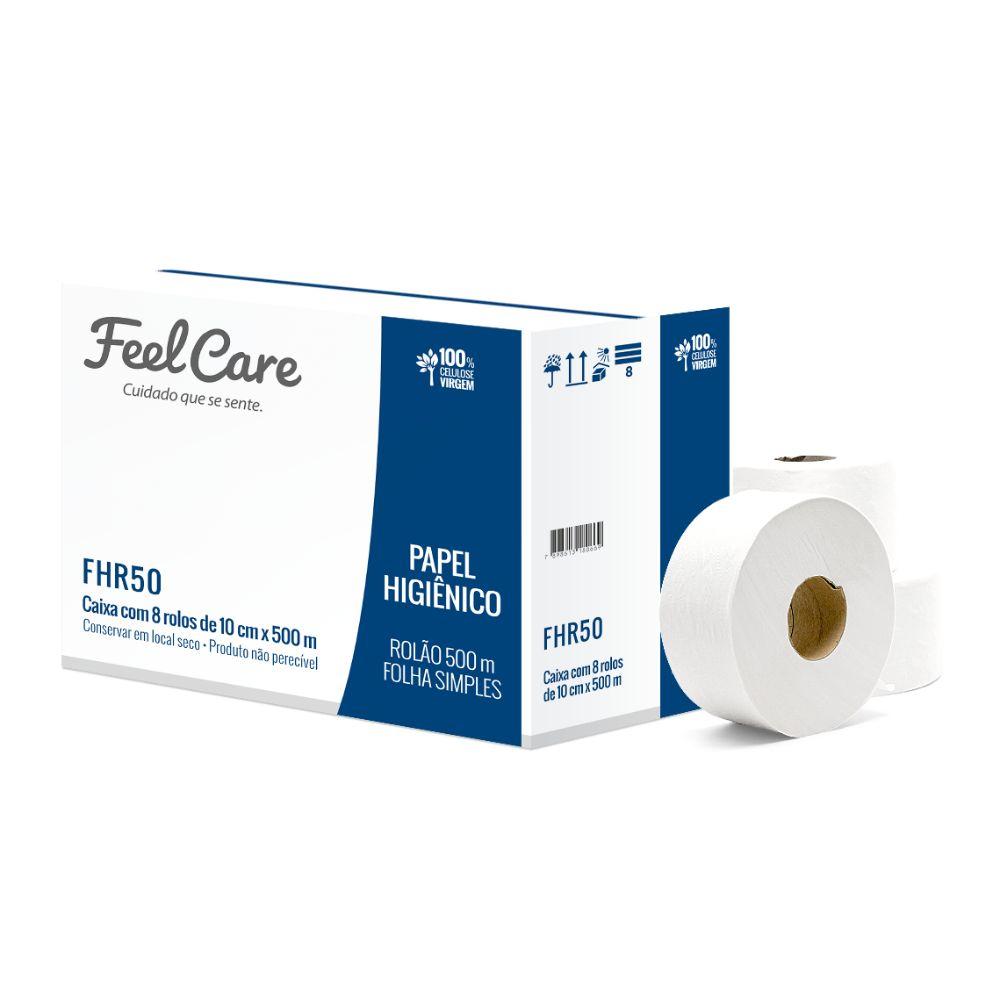 Papel Hig. Feelcare Rolao Fs Fhr50 500 Mt C/8 Un