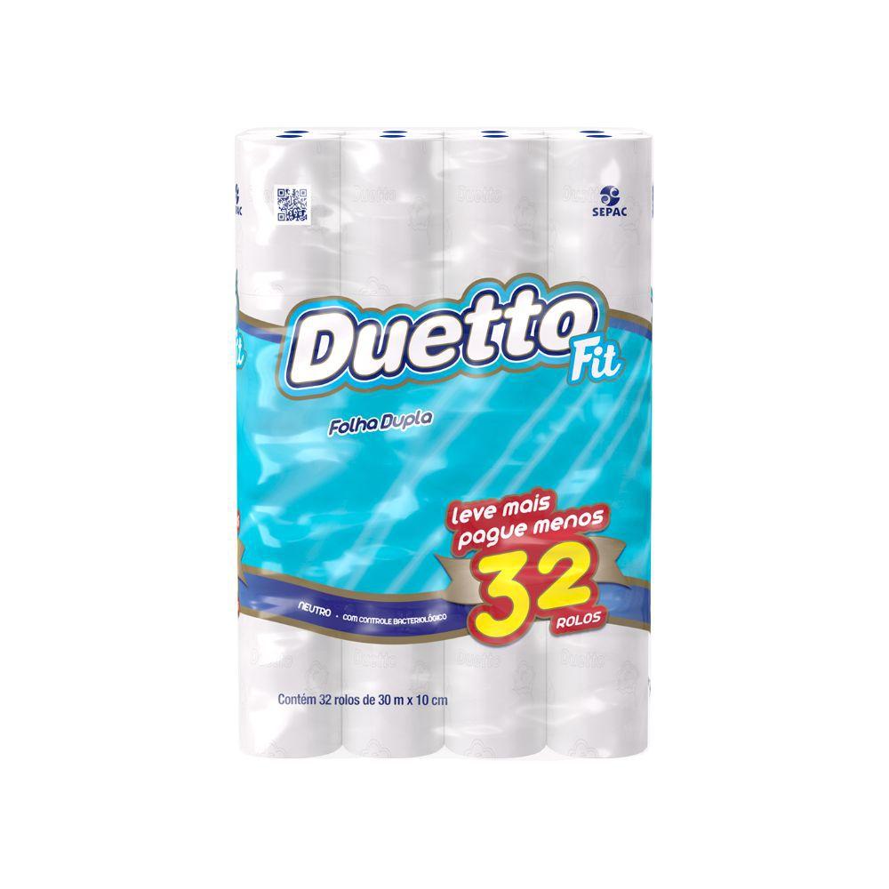 Papel Higiênico Duetto Fit Folha Dupla 30Mt C  32 Un