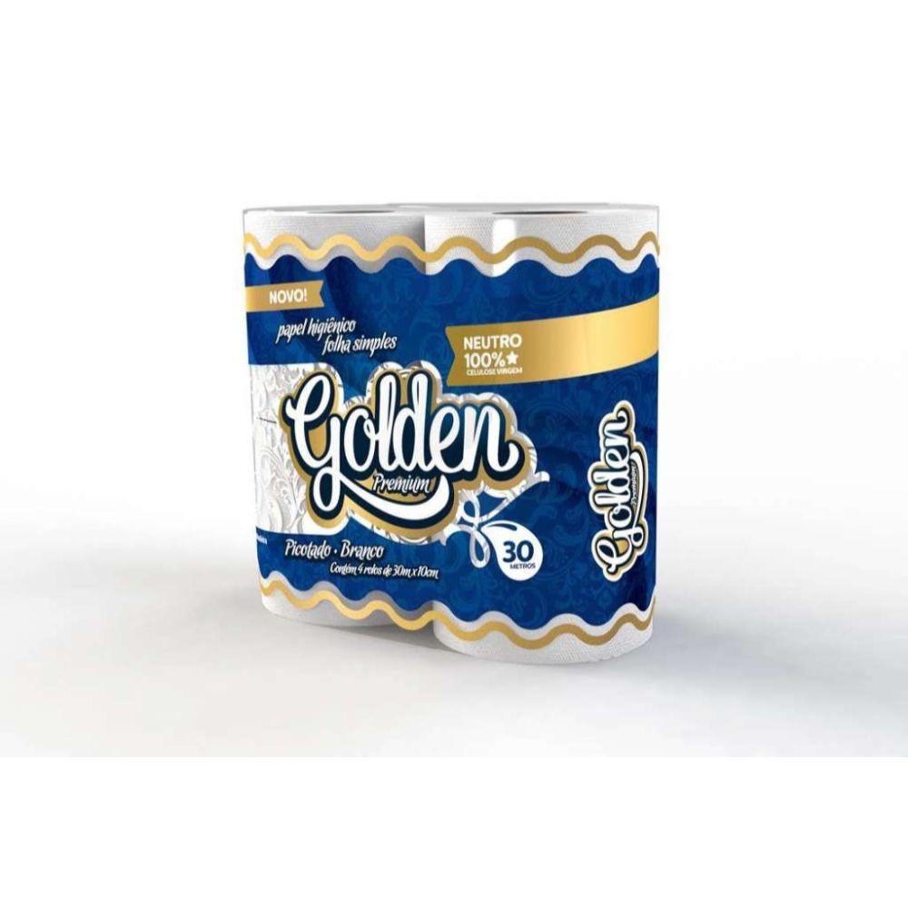 Papel Higiênico Golden Folha Simples 30Mts C| 4 Un