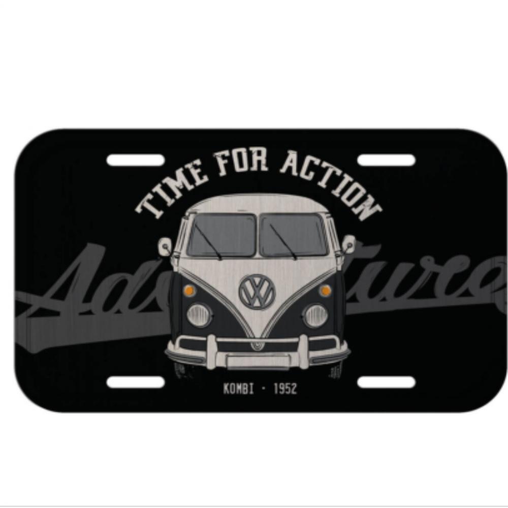 Placa Carro Aluminio 30x0,06x15cm Kombi Vintage