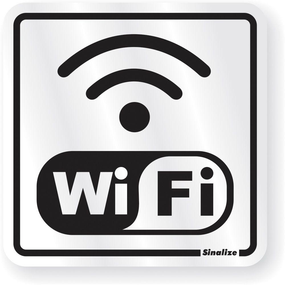 Placa Em Aluminio 15x15cm Internet Wi Fi