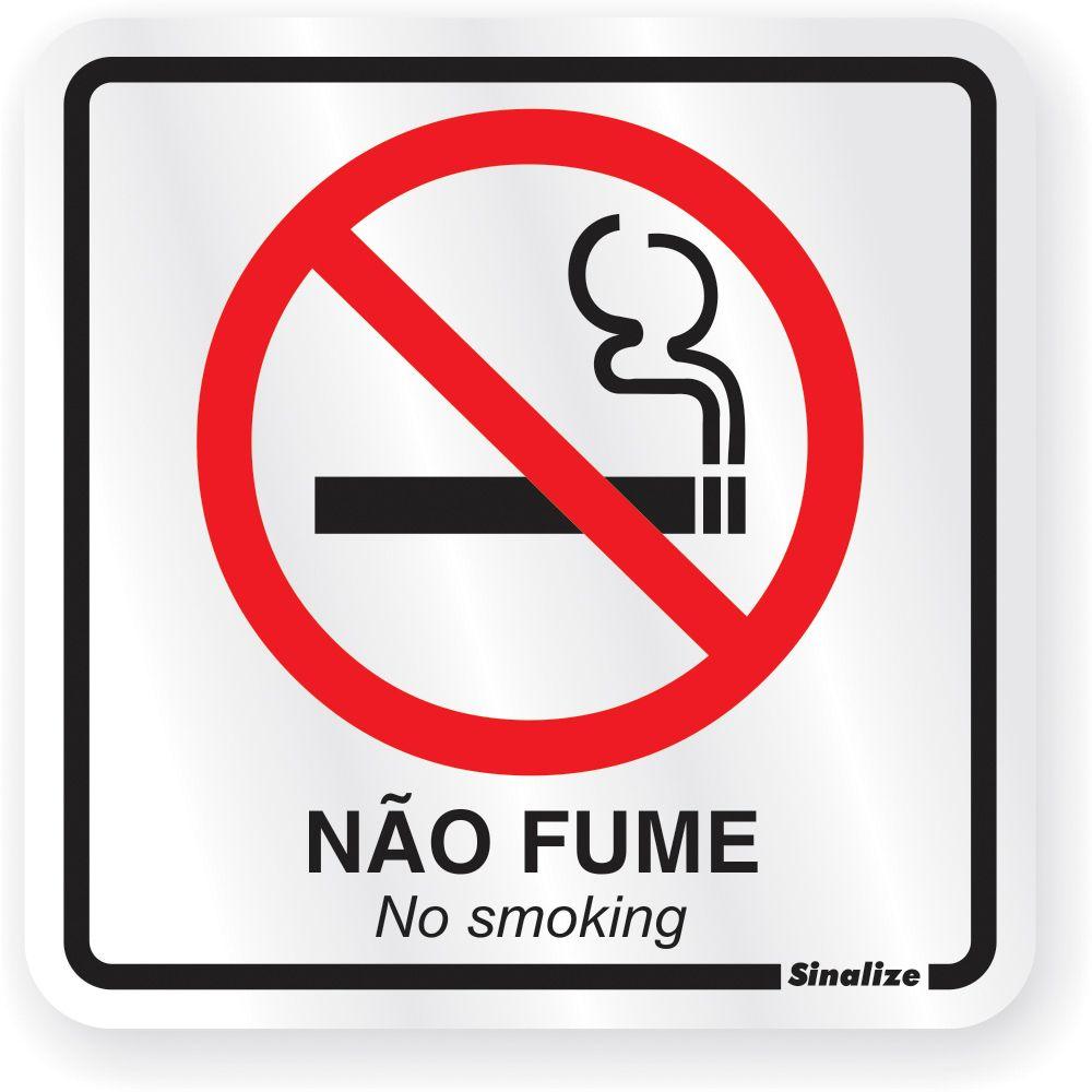 Placa Em Aluminio 15x15cm Proibido Fumar
