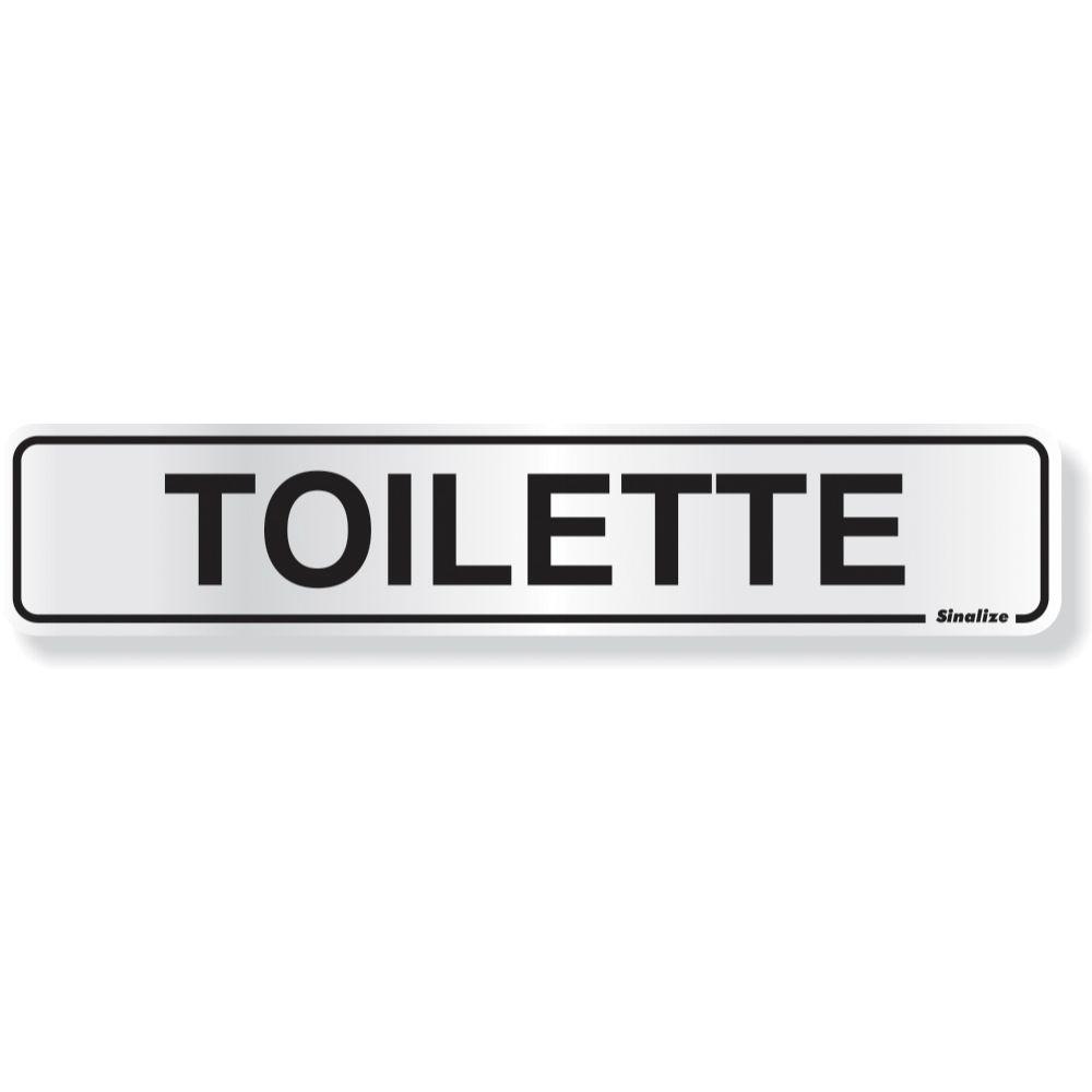 Placa Em Aluminio 5x25cm Toilette