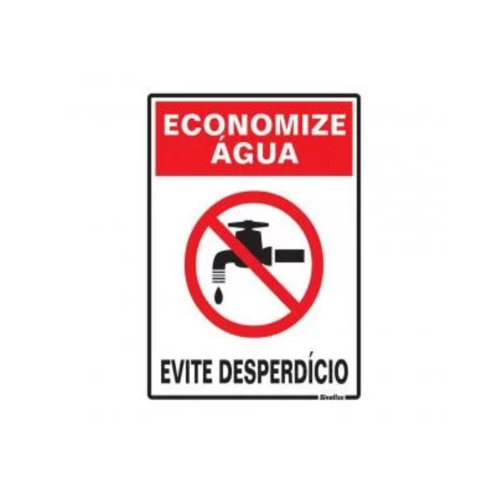 Placa Em Poliestireno 15X20Cm Economize Água