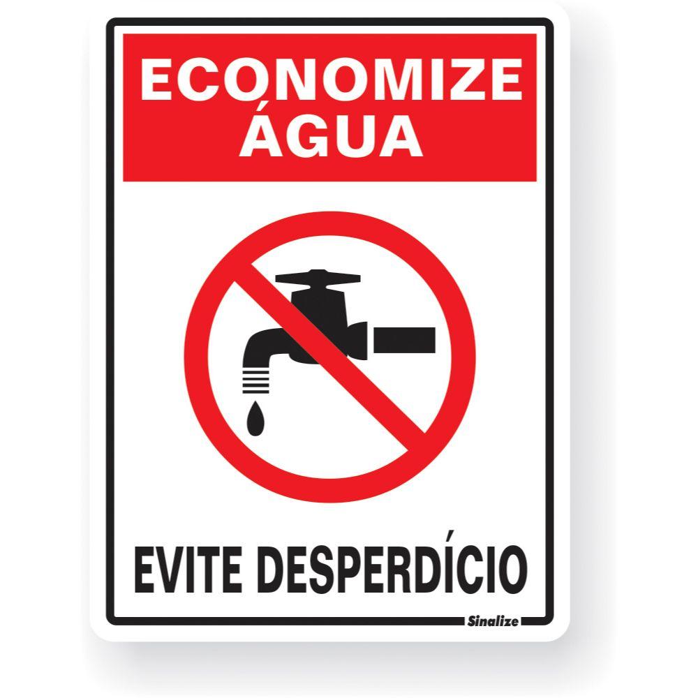 Placa Em Poliestireno 15x20cm Economize Agua