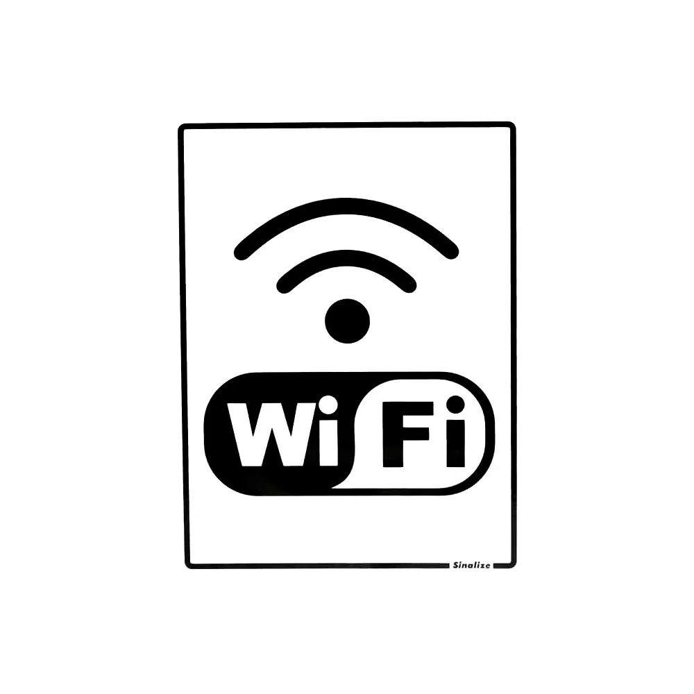 Placa Em Poliestireno 15X20Cm Internet Wi Fi