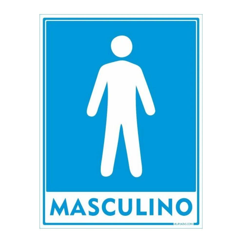 Placa Em Poliestireno 15X20Cm Sanitário Masculino