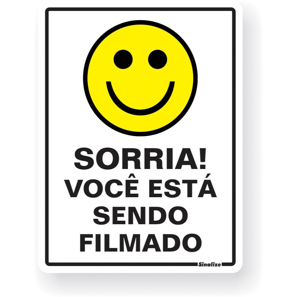 Placa Em Poliestireno 15x20cm Sorria Filmado!