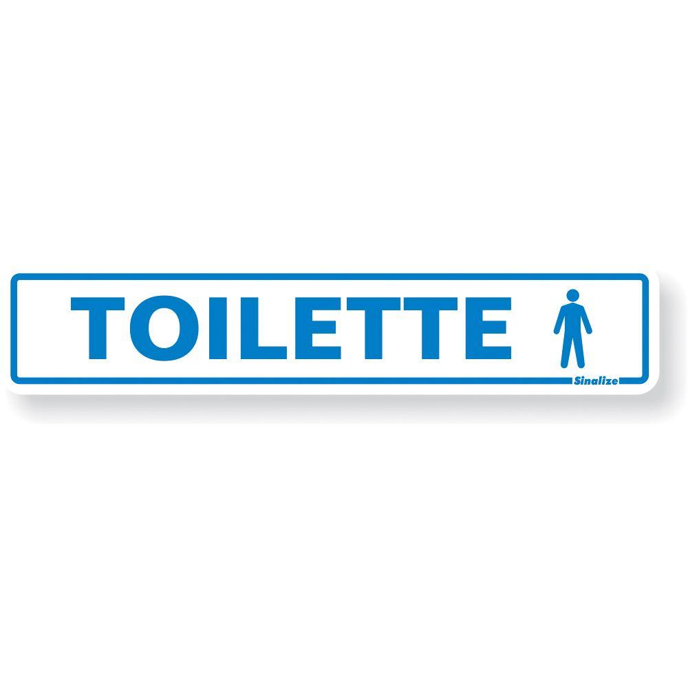 Placa Em Poliestireno 5x25cm Toilette Mascul