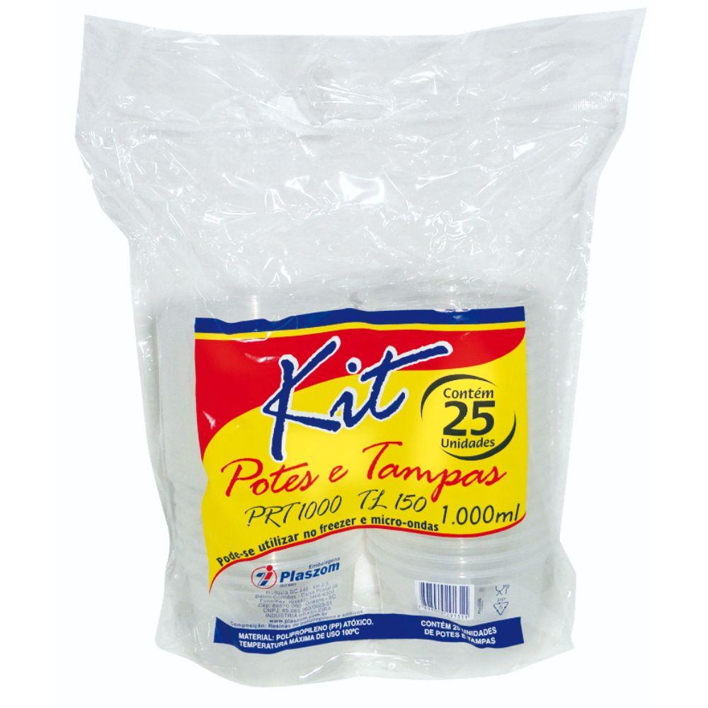 Pote Plast Plaszom 1000ml F Reto Sobretampa C/25