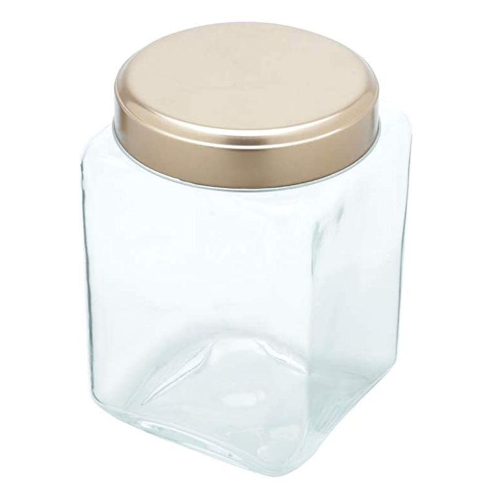 Pote Vidro Clean Glass Square Gde Cb Transparente
