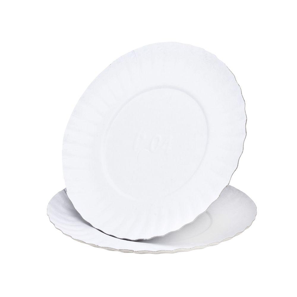Prato Papelao N.4 Branco 20 Cm C/100