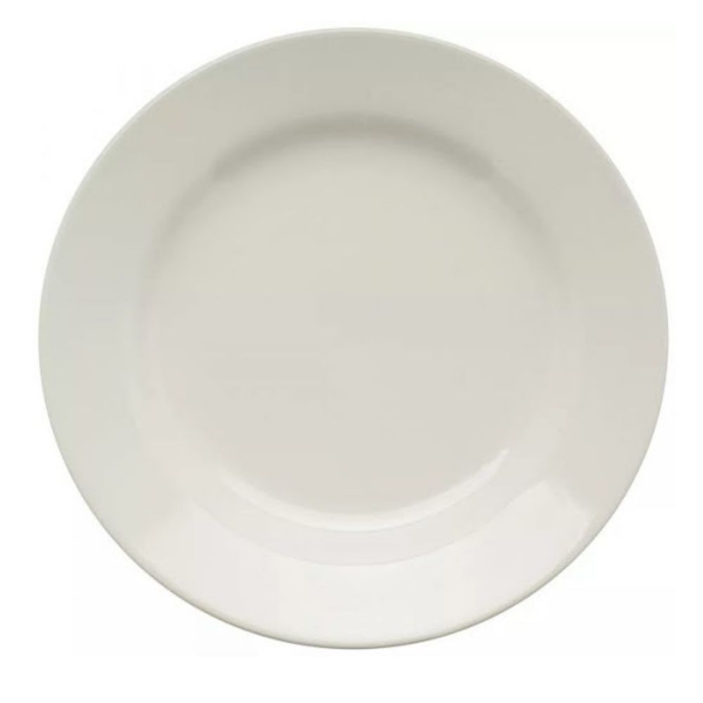 Prato Raso 26cm Plus Oxford Branco