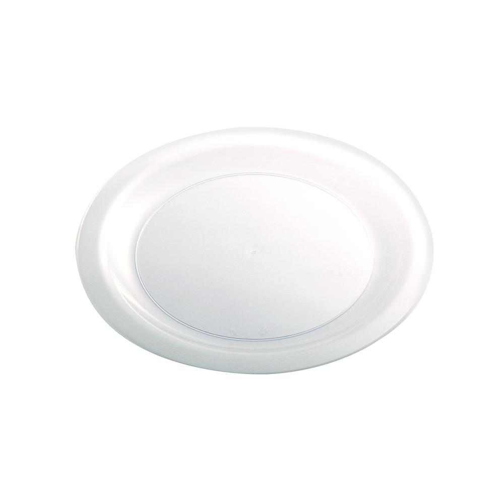 Prato Refeicao Slim C/10 Unidades 21cm Cristal