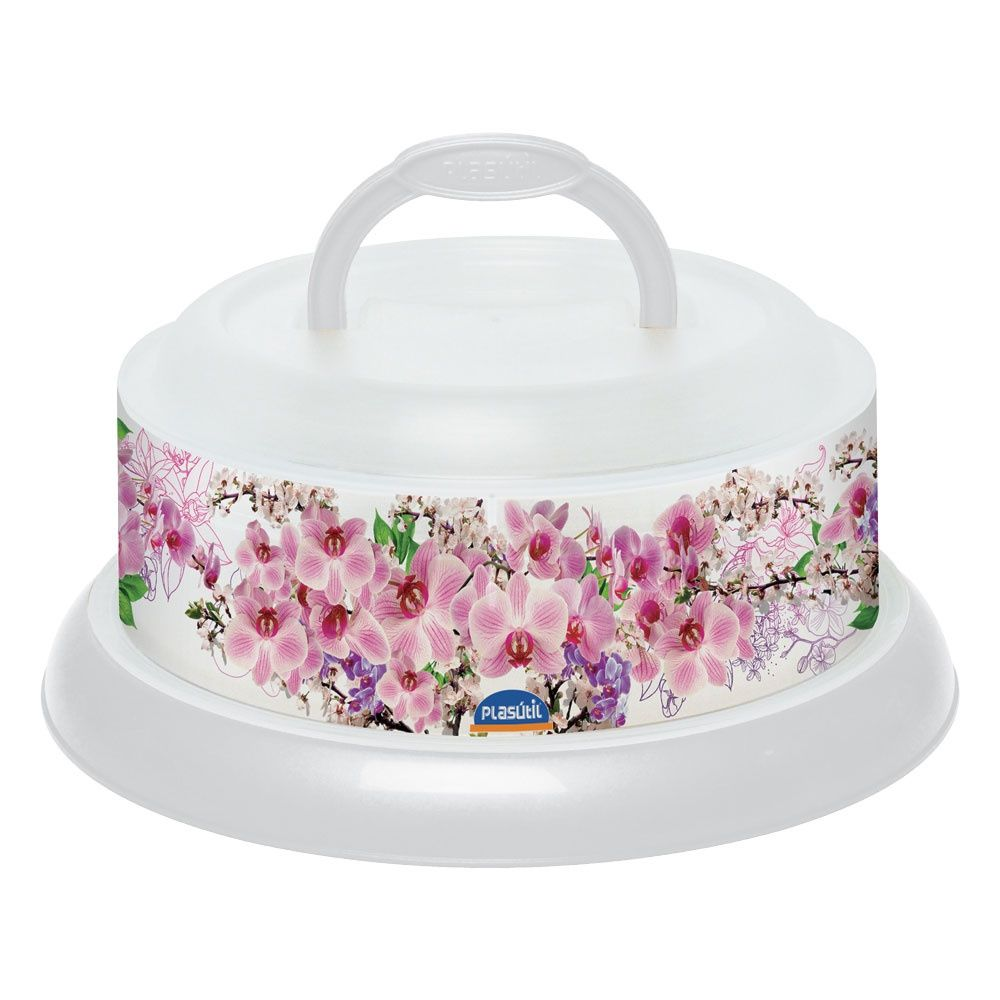 Queijeira Decora Rosca - Floral Plasutil