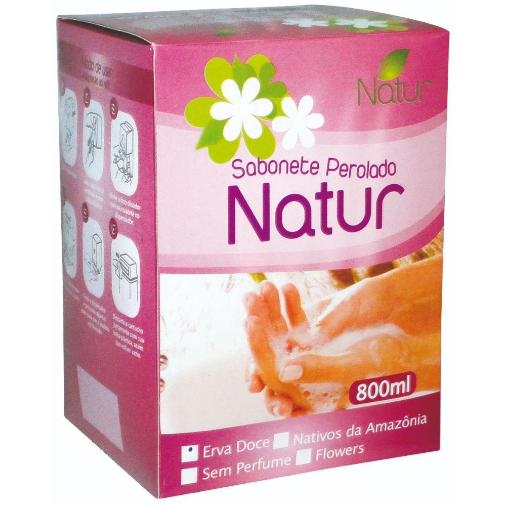 Sabonete Perolado Natur 800ml Erva Doce
