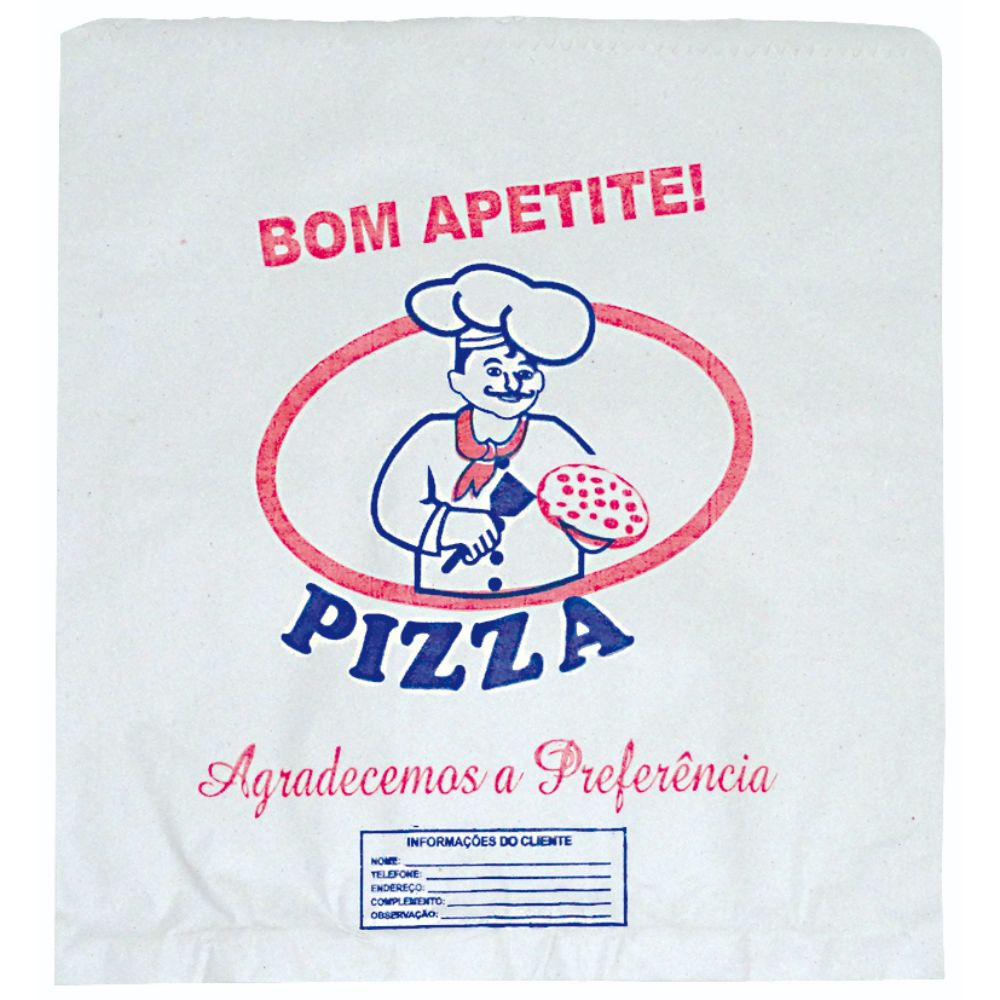 Saco Papel Strong 86x50cm Para Pizza C/250 Liso Envelope