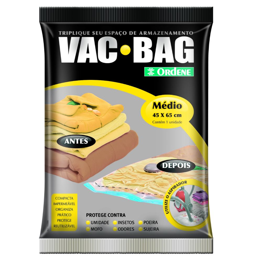 Saco Para Armazenagem A Vacuo Medio Vac Bag