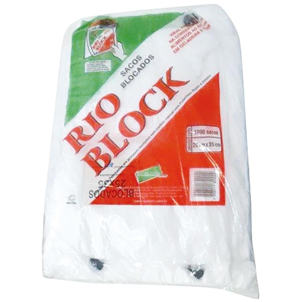 Saco Plast. Blocado 25x35 C/1000 Rioplastic