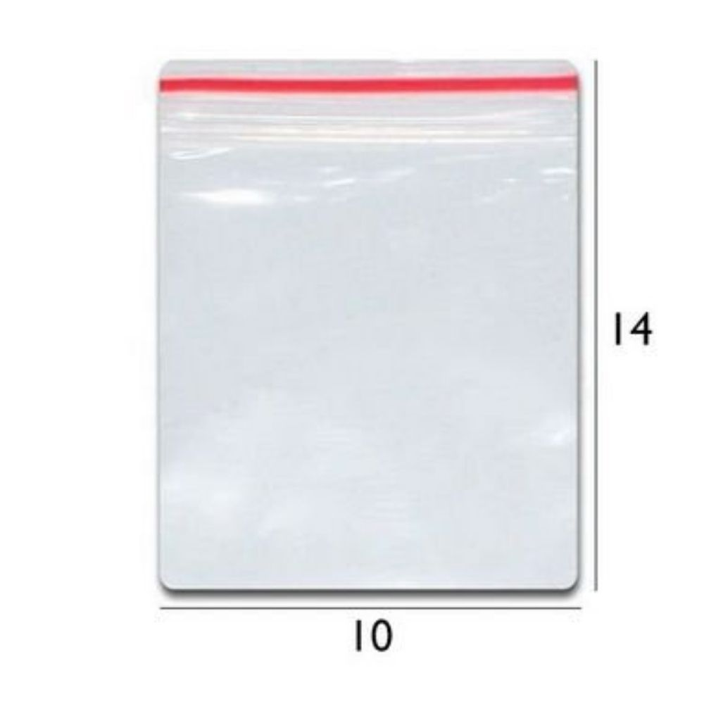 Saco Zip N.05 - 10x14 Transparente Talge
