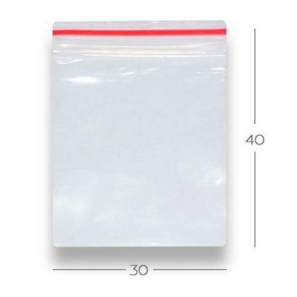 Saco Zip N.11 - 30x40 Transparente Talge