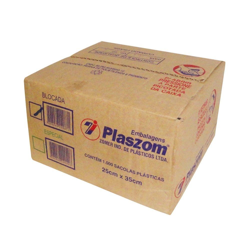 Sacola Plaszom 25x35 Cx Parda