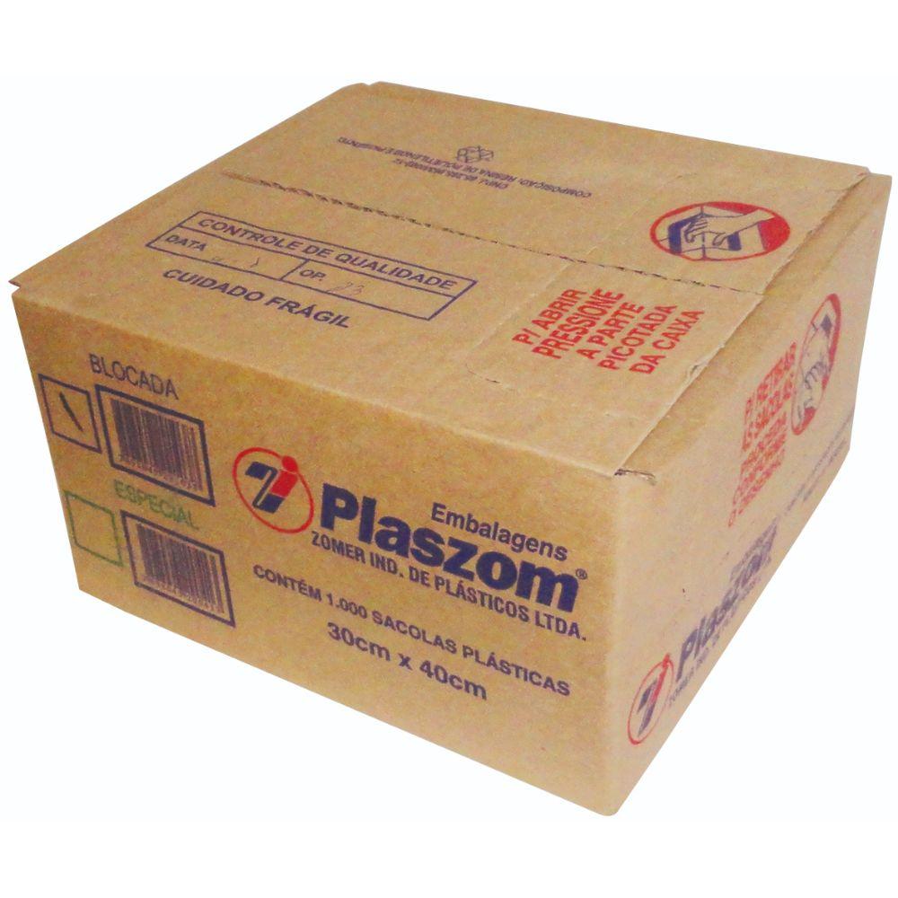Sacola Plaszom 30x40 Cx Parda C/100 Unidades