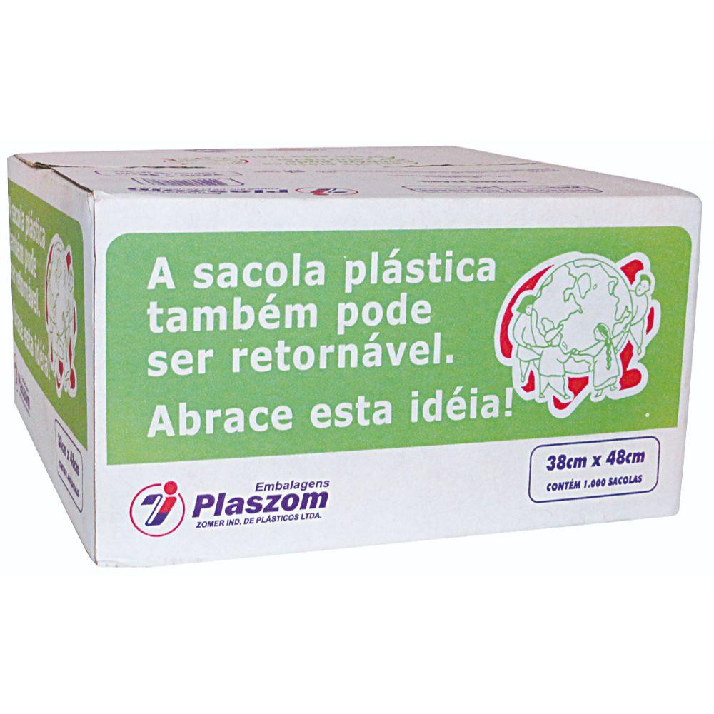 Sacola Plaszom 38x48 Cx Branca