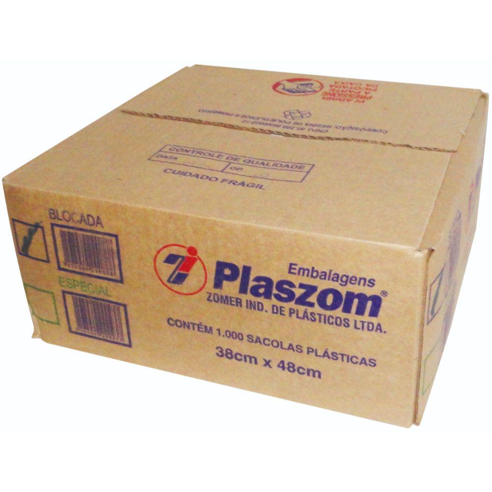 Sacola Plaszom 38x48 Cx Parda