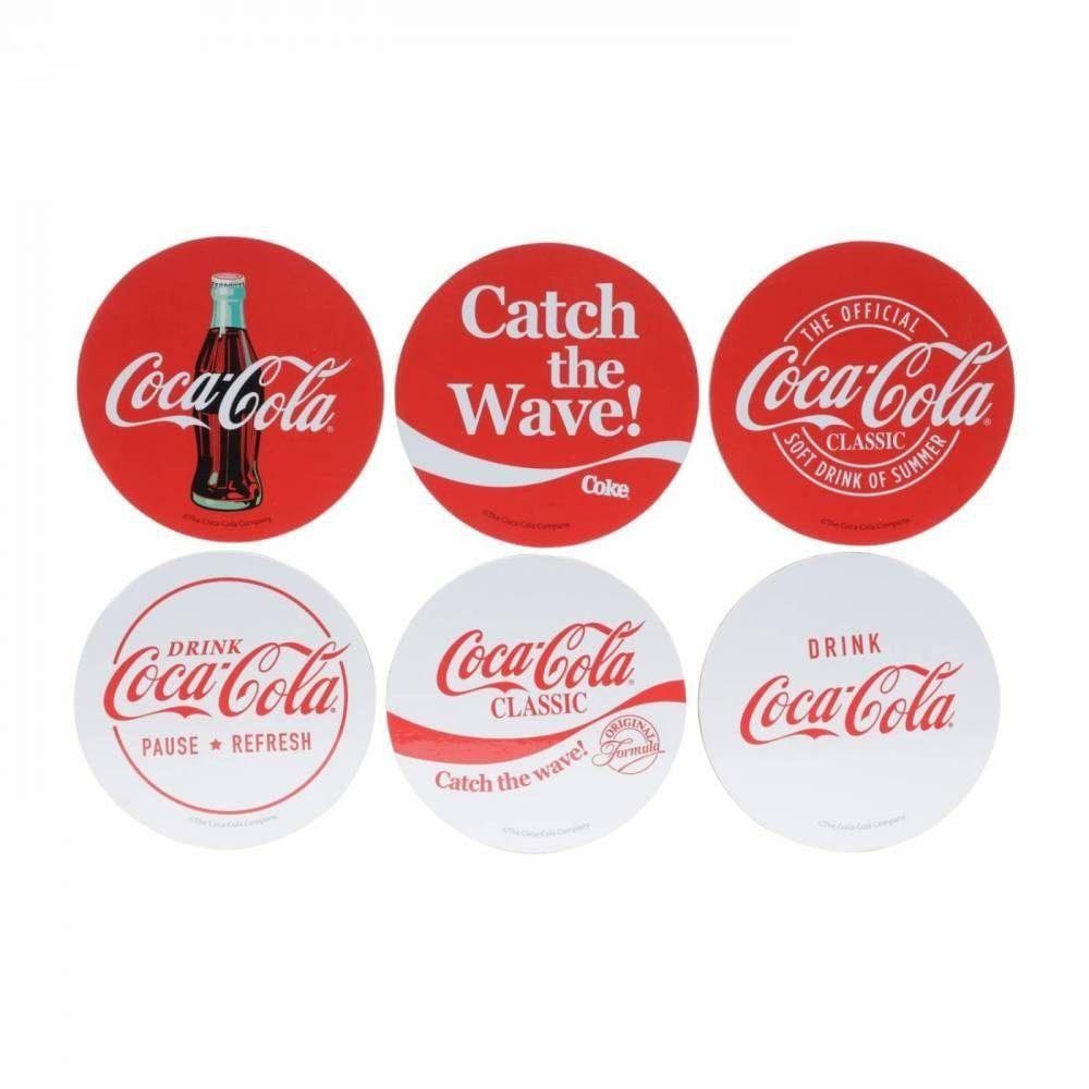 Set C|6Pcs Porta Copos Coca Clas|Vermelho Urban