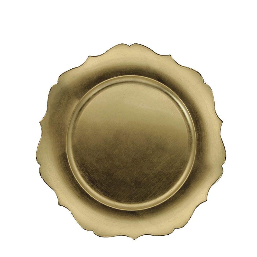 Sousplat Versalhes Dourado Mimo Style