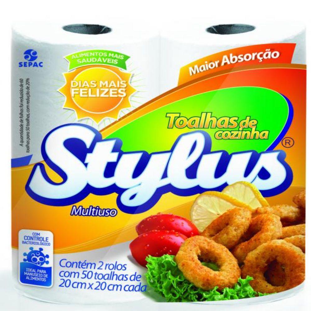 Toalha De Papel Stylus C  2 50Fls