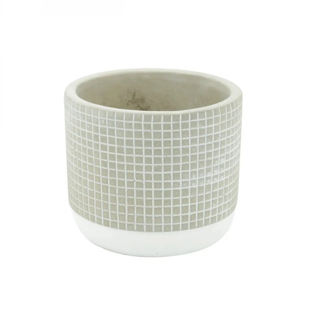Vaso Concreto Little Cinza Urban