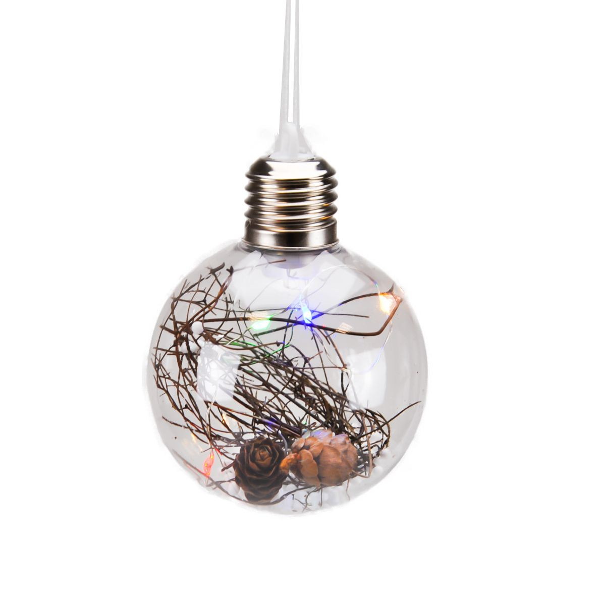 Bola de Natal Plástico 08 cm (acende)
