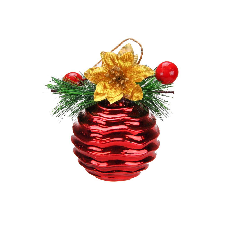 Bola Natal 08 cm Plástico