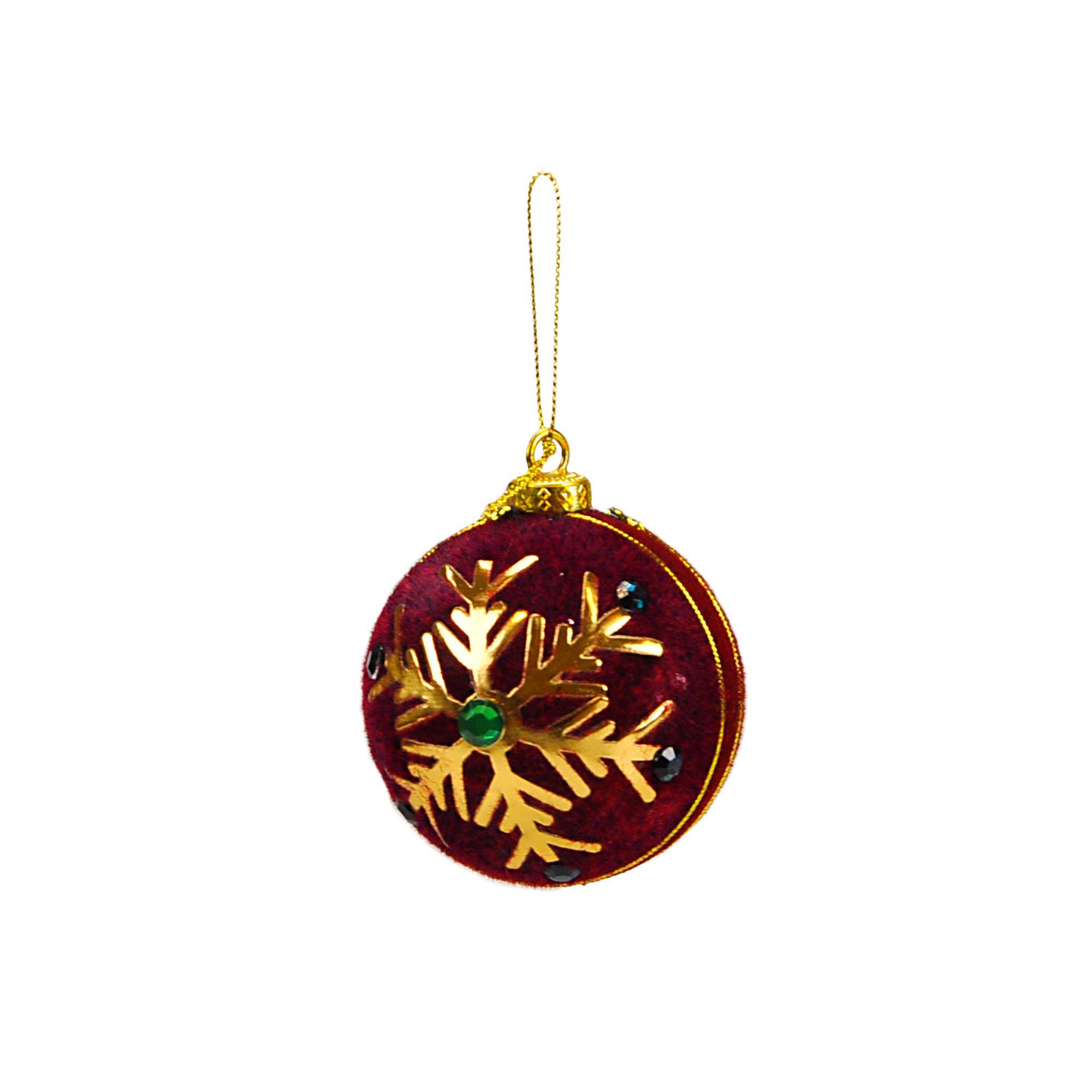 Bola Natal Espuma 08 cm (03 peças)