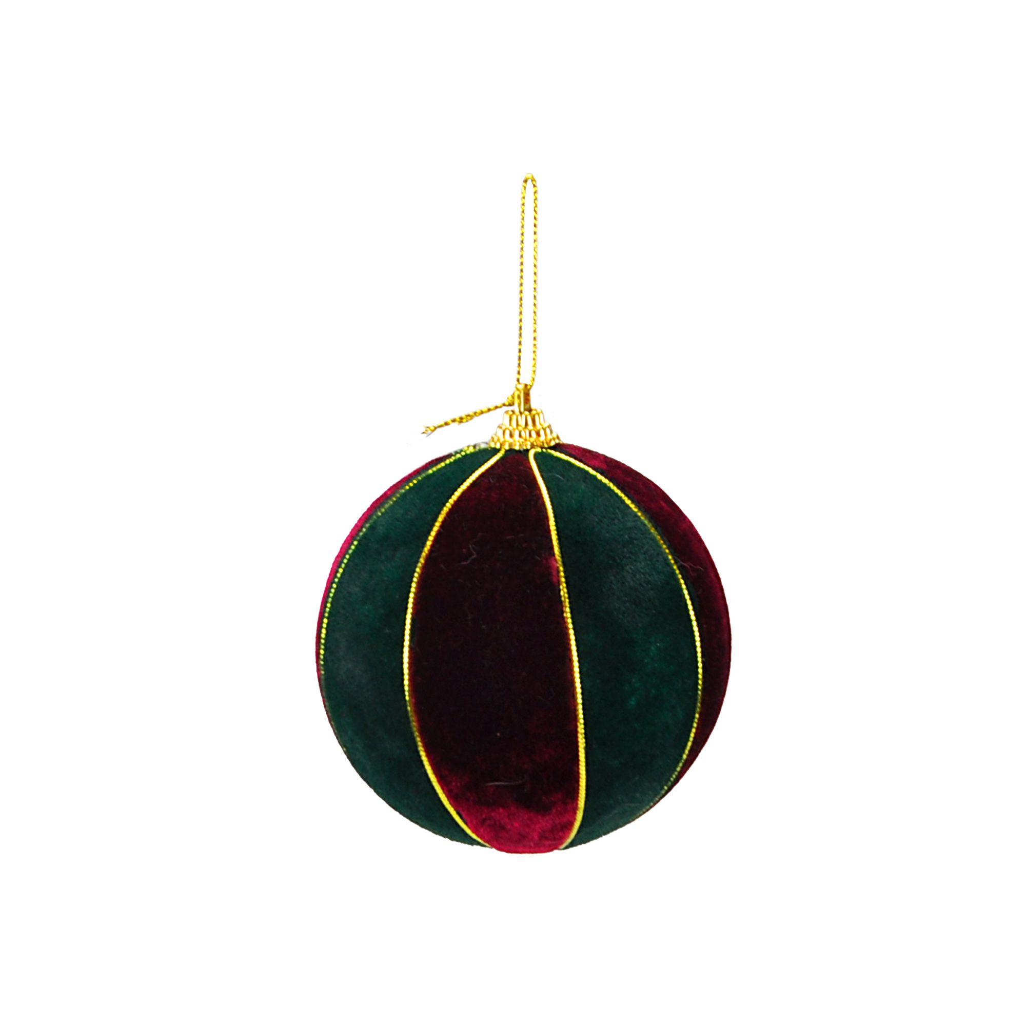 Bola Natal Espuma 10 cm (02 peças)