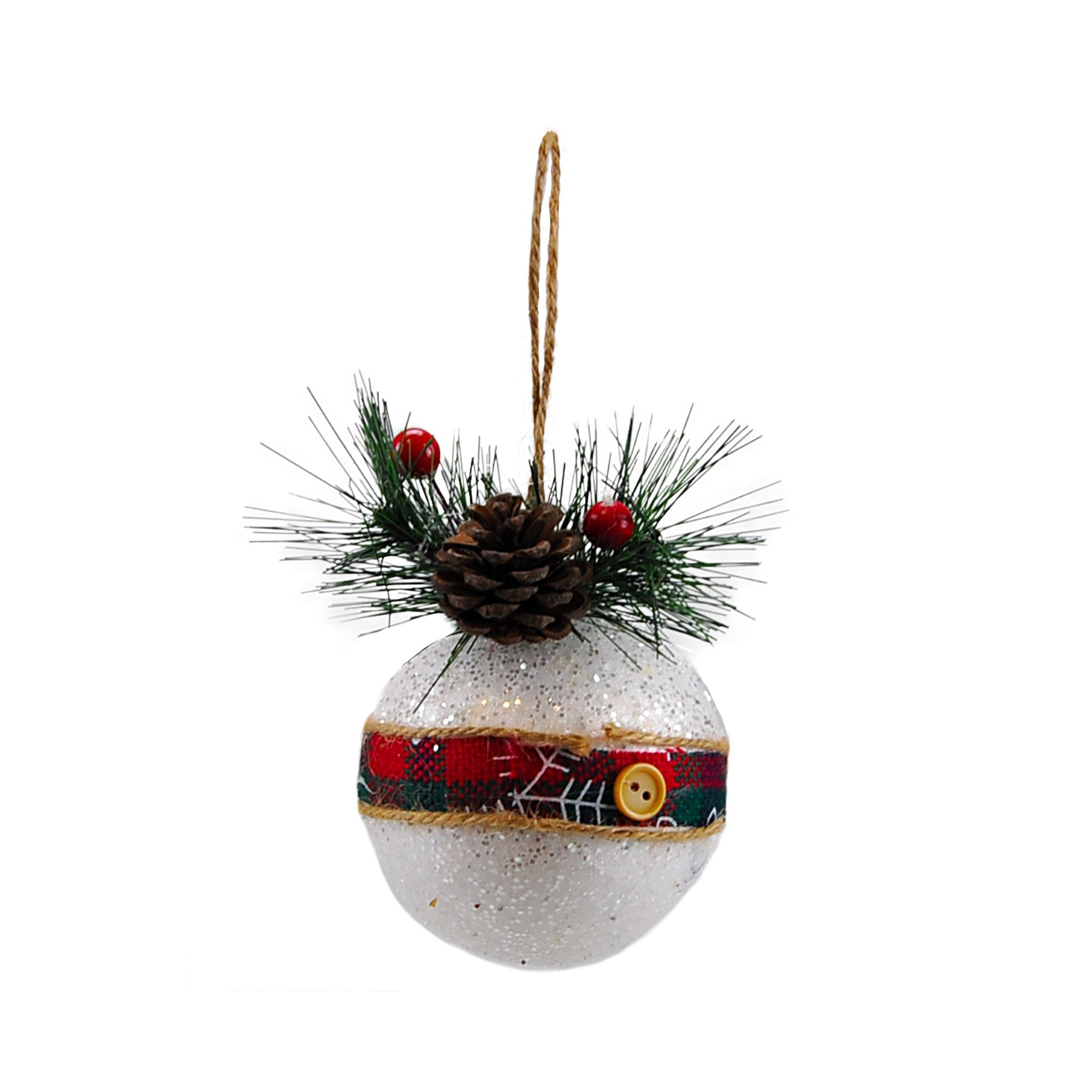 Bola Natal Ice 08 cm (03 peças)