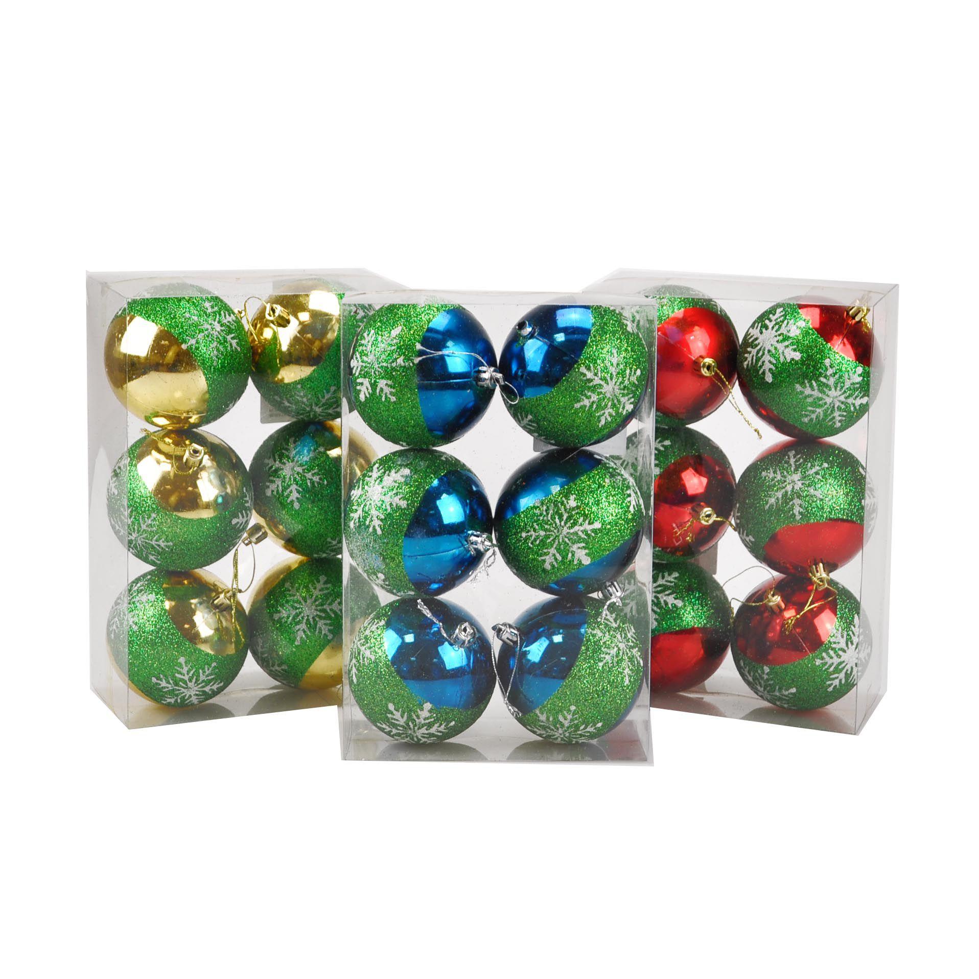 Bola Natal Plástico 08 cm (06 peças)