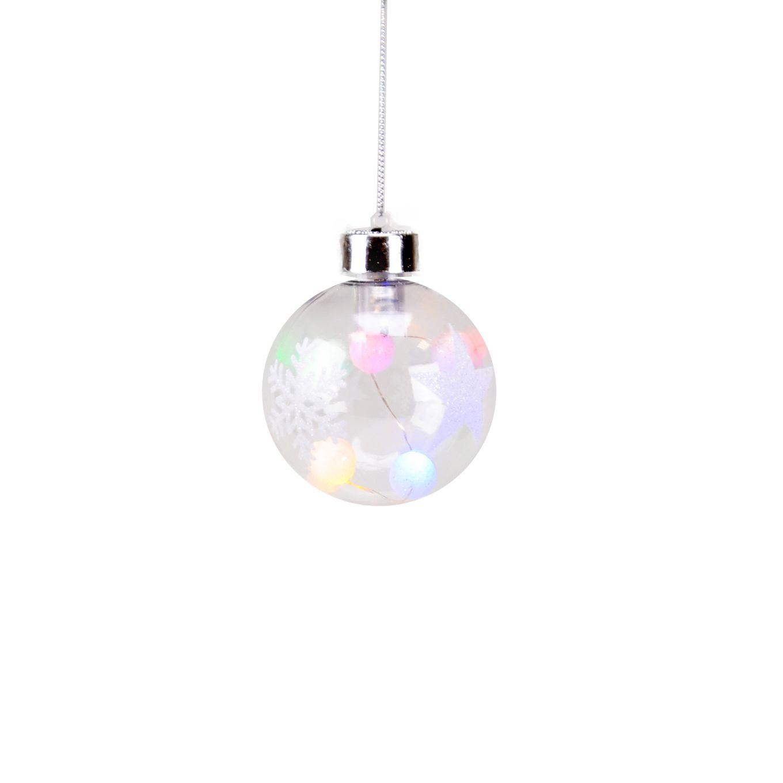 Bola Natal (acende) Plástico 08 cm