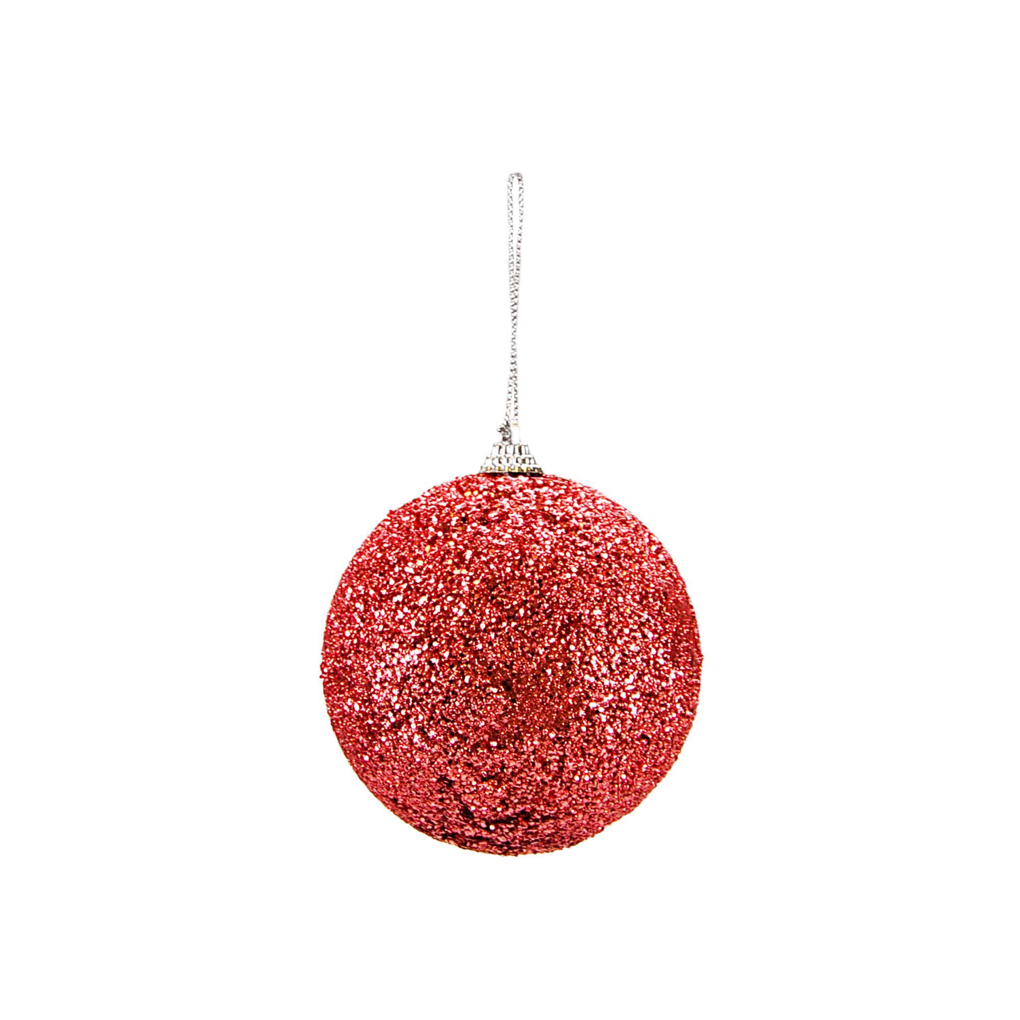 Bola Natal Rosa Claro 10 cm (02 peças)