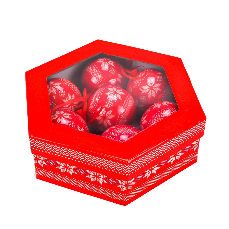 Bolas (07 un) Natal Plástico 07 cm