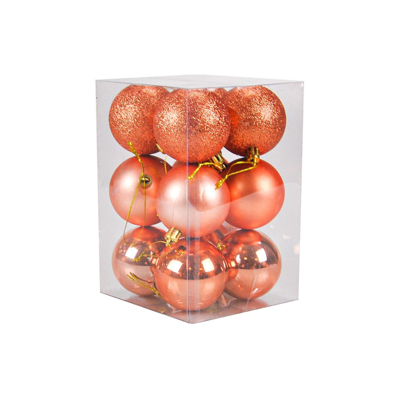 Bolas Natal 06 cm Plástico (12 peças)