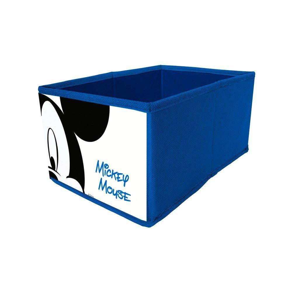 Caixa em Tecido 13X30X15 cm MICKEY Azul