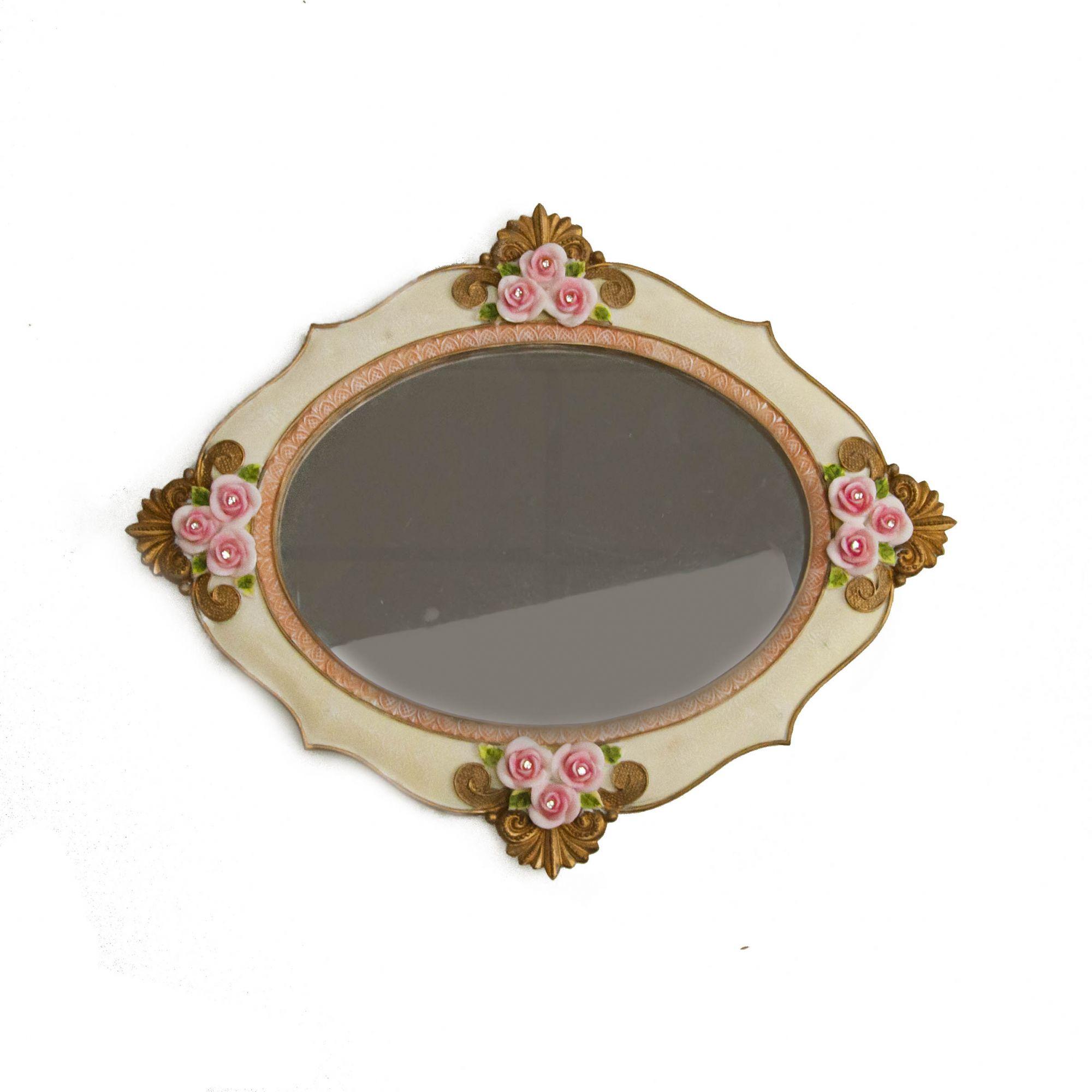 Espelho Redondo com moldura 1084