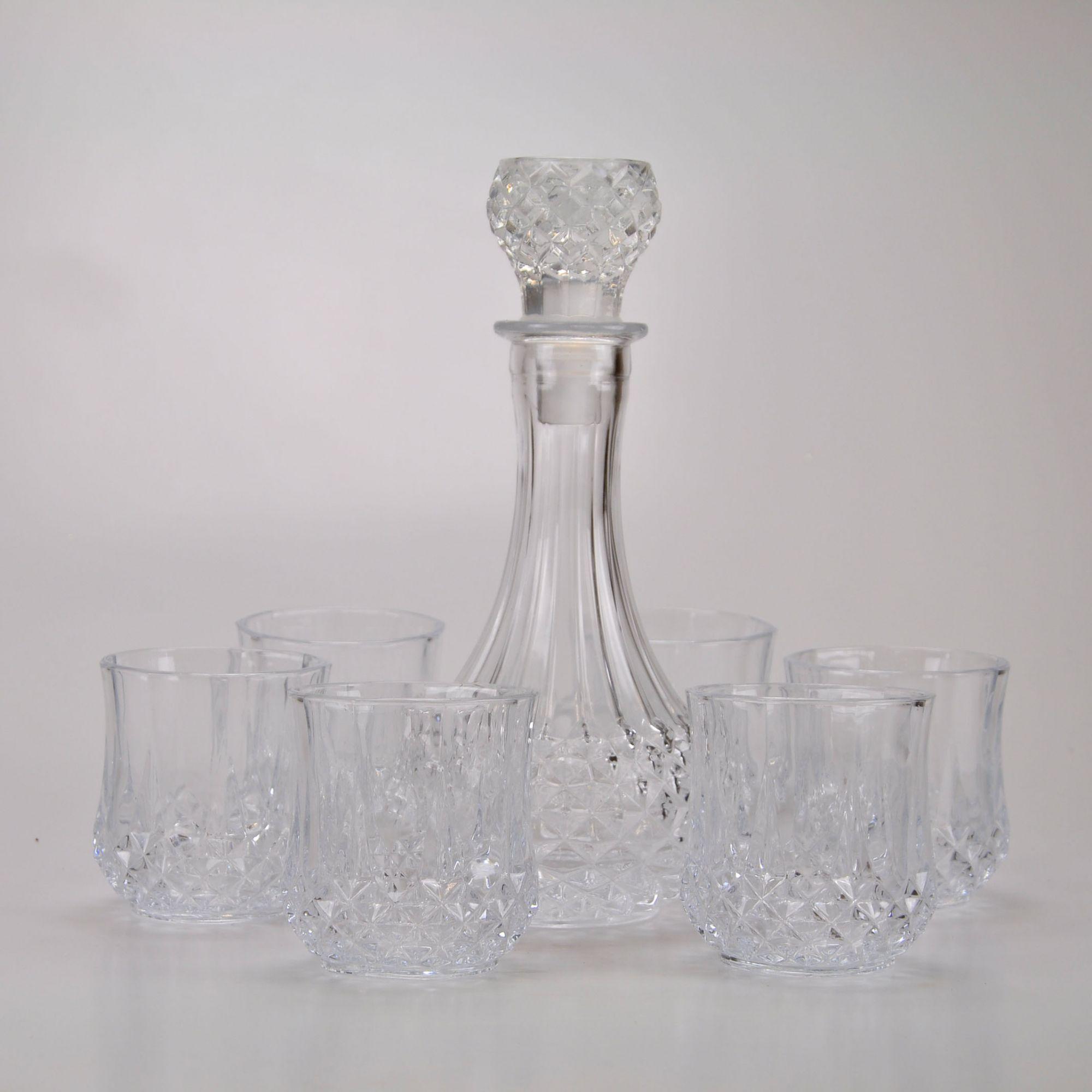 Garrafa de Whisky com copos (07 peças) 61817