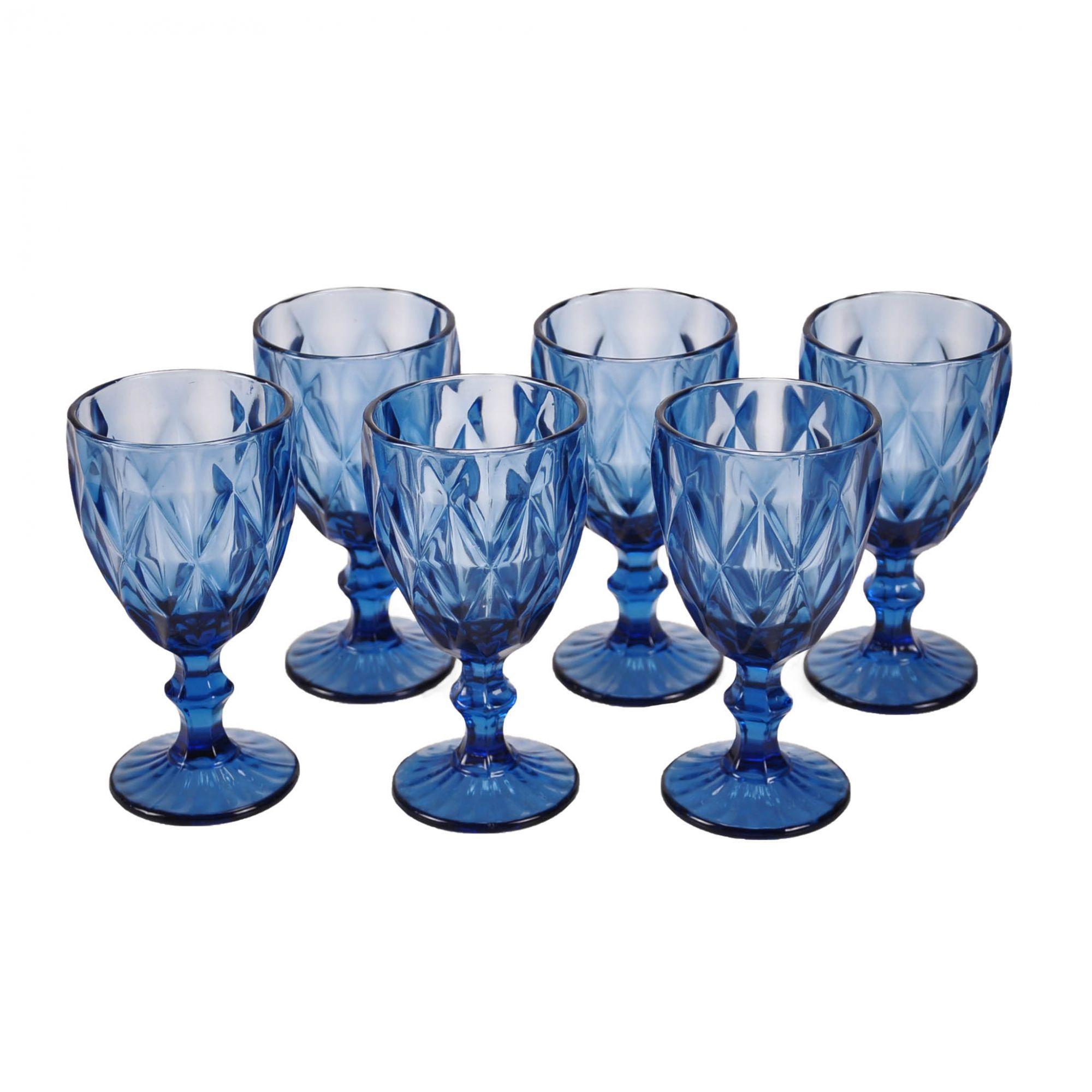 Jogo 06 Taças para Água Azul 61397