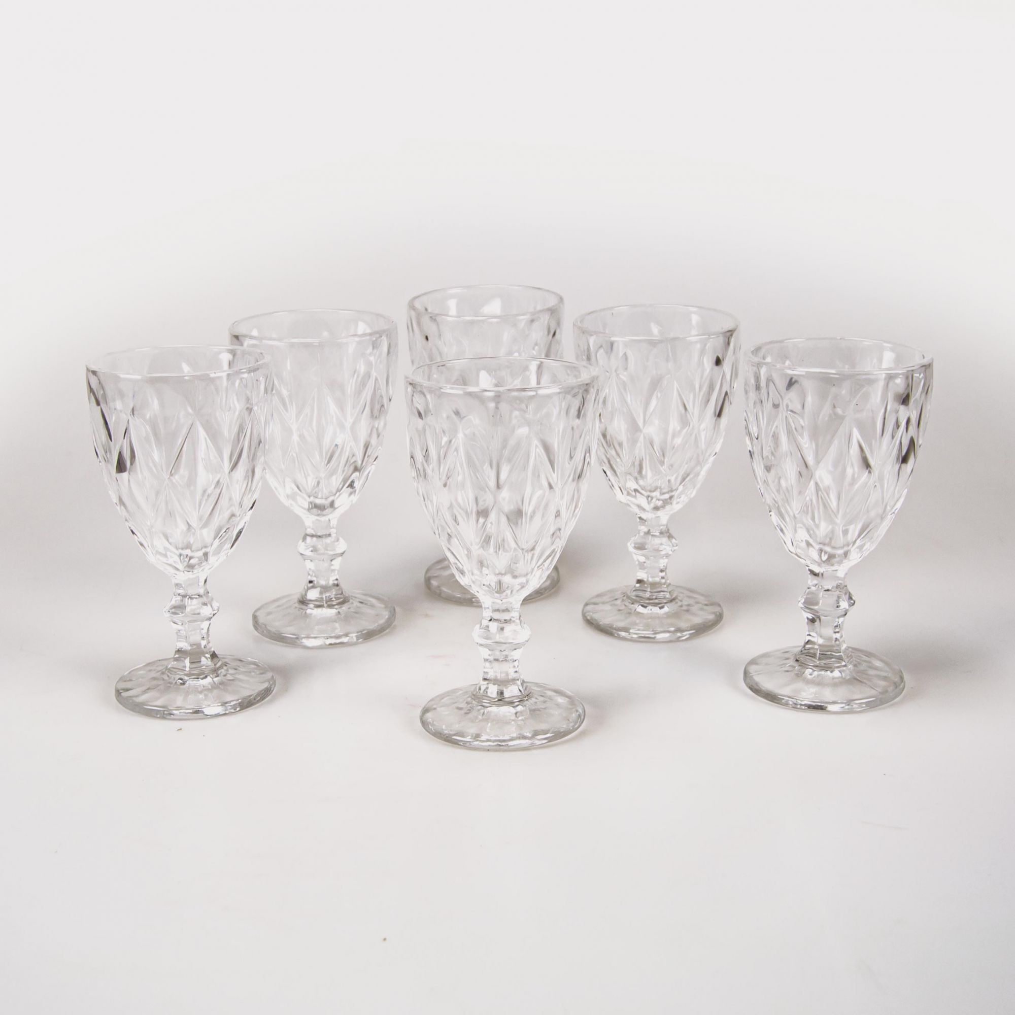 Jogo 06 taças para água transparente 61389